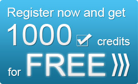 Register now and get 1000 credits for FREE!